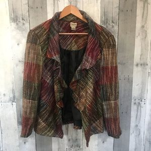 Chico's Multicolored Open front cardigan jacket